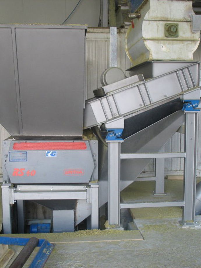 Collection and packaging system for mineral wool waste - company Trimo, Trebnje